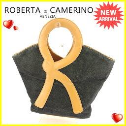 Roberta di Camerino【ロベルタ・ディ・カメリーノ】 トートバッグ /キャンバス×レザー レディース