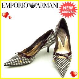 Emporio Armani【エンポリオ・アルマーニ】 パンプス /キャンバス×エナメル レディース