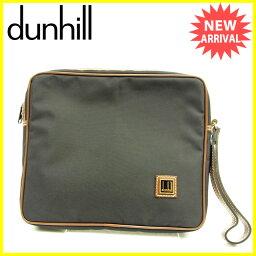 Dunhill【ダンヒル】 セカンドバッグ /ナイロン×レザー レディース