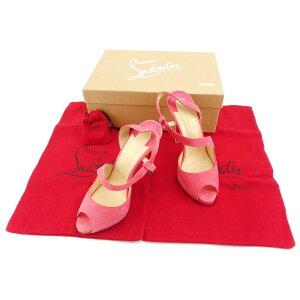 [تخفيضات الأزياء] [خصم 10٪] [مستعملة] Louboutin Christian Louboutin Sandals Ladies 36.5 Pink T14001.