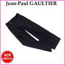 【中古】 ジャンポールゴルチェ Jean Paul Gaultier パンツ ワークポケット付き ブラック ワイドシルエット レディース B917s