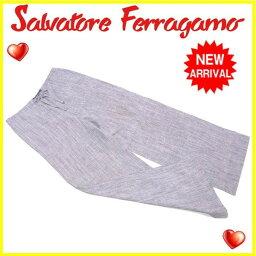 Salvatore Ferragamo【サルヴァトーレフェラガモ】 パンツ 麻 レディース