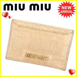 MIUMIU【ミュウミュウ】 カードケース  レディース