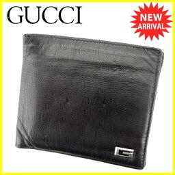 GUCCI【グッチ】 二つ折り財布(小銭入れあり) /レザー メンズ