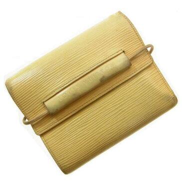 【中古】 ルイヴィトン Louis Vuitton 二つ折り財布 エピ ヴァニラ A02 .