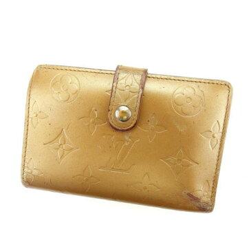 【中古】 ルイヴィトン がま口財布 さいふ 二つ折り財布 さいふ ポルトモネビエヴィエノワ モノグラムマット アンブレ(ベージュ) モノグラムマットレザ- Louis Vuitton A1125 ブランド