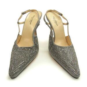 [Used] Dolce&Gabbana DOLCE&GABBANA Pumps Mule Shoes Ladies #38/Rhinestone Gray C775