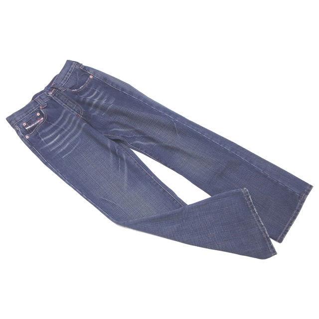 【中古】 ディーゼル ジーンズ ブーツカット ♯29サイズ ダメージデニム ウォッシュブルー DIESEL E965 ブランド