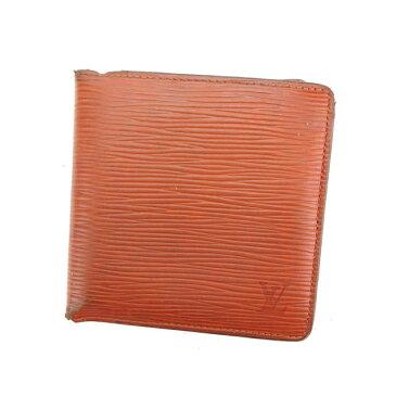 【中古】 ルイ ヴィトン Louis Vuitton 二つ折り財布 財布 ブラウン ポルトビエカルトクレディモネ エピ レディース G957s .
