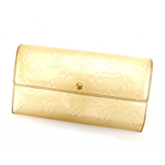 【中古】 ルイヴィトン 長財布 さいふ ファスナー付き長財布 さいふ ポシェットポルトモネクレディ ヴェルニ ペルル(ホワイト) パテントレザー Louis Vuitton H427 ブランド