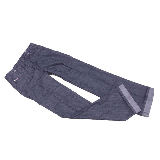 【中古】 ディーゼル ジーンズ ブーツカット パンツ ♯24サイズ センタープレス ネイビー系 DIESEL L630 ブランド
