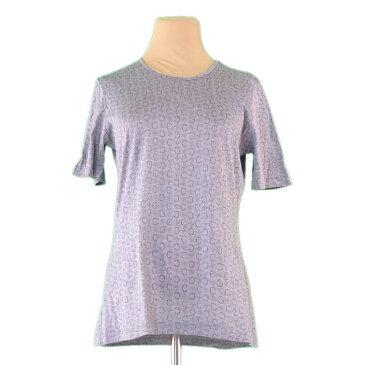 【中古】 セリーヌ Tシャツ カットソー クルーネック Cマカダム グレー CELINE L2347 ブランド