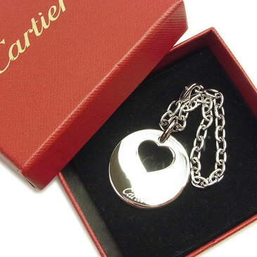 【中古】 カルティエ Cartier キーホルダー キーリング バッグチャーム メンズ可 シルバー 人気 T1268 .
