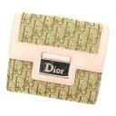 【中古】 ディオール Dior Wホック財布 財布 二つ折り財布 レデ...