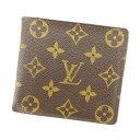 【中古】 ルイ ヴィトン 二つ折り財布 廃盤モノグラム Louis Vuitton ブラウン T4932s