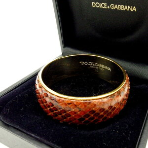 [Used] DOLCE&GABBANA DOLCE&GABBANA Bangle Accessory Ladies Brown×Gold T13783