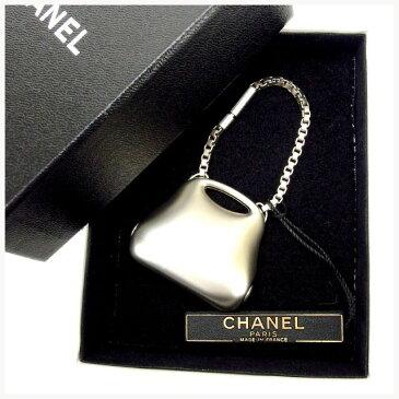 【中古】 シャネル Chanel キーリング チャーム シルバー ヴィンテージ ヒップバッグ バック レディース Y1541s .