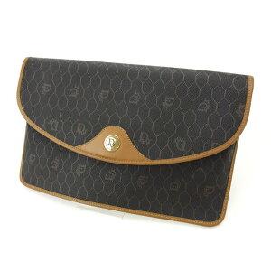 [时尚促销] [10%优惠] [二手] Dior手提包Vintage Vintage浅棕色x黑色Christian Dior第二个包Back时尚收纳品牌包品牌人气礼物男士女士女士好品T12694。