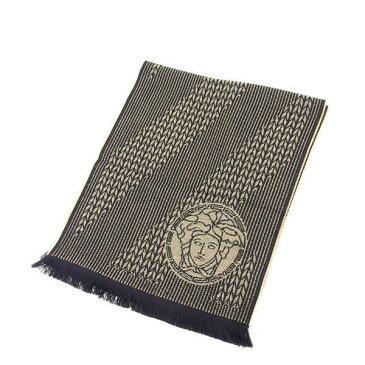 【中古】 ヴェルサーチ Versace マフラー ブラック×ベージュ レディース Y4585s .