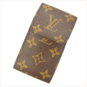 【中古】 ルイ ヴィトン Louis Vuitton シガレットケース タバコケース ブラウン エテュイシガレット モノグラム メンズ可 Y5592s .