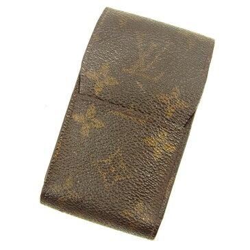 【中古】 ルイ ヴィトン Louis Vuitton シガレットケース タバコケース ブラウン エテュイシガレット モノグラム メンズ可 Y6227s .