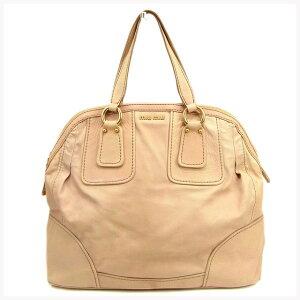 [二手商品]手提包波士顿包徽标粉红色x金色水洗皮miu miu返回手提式皮包时尚品牌品牌包收纳热门礼品快速发货库存处置男士女士女士1夏季T13800。