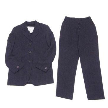 【中古】 ダーク ビッケンバーグ DIRK BIKKEMBERGS スーツ テーパードパンツ レディース テーラージャケット ブラック ウールWOOL 85%NY 15% ジャケット裏地付き D1790 ブランド