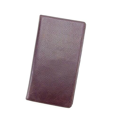 【中古】 エクセル Excel 長札入れ 札入れ 長財布 財布 カード入れ メンズ可 ブラウン レザー T14309 .
