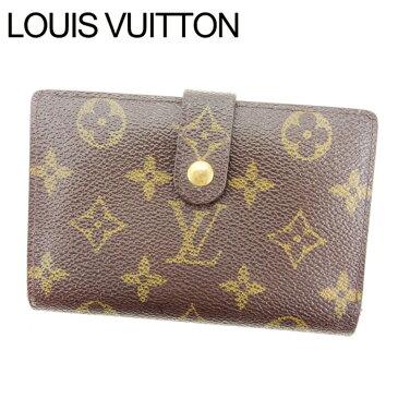【中古】 ルイ ヴィトン Louis Vuitton がま口財布 財布 二つ折り ブラウン ポルトモネ ビエヴィエノワ モノグラム レディース Y687s .