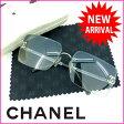 【送料無料】 シャネル CHANEL サングラス メンズ可 ココマーク ブルー×シルバー (あす楽対応) 美品 人気 【中古】 A624