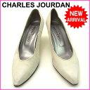 【送料無料】 シャルル・ジョルダン CHARLES JOURDAN パンプス #61 2 ホワイト レザー (あす楽対応)【中古】 C498 .