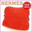【送料無料】 エルメス HERMES ポーチ 化粧ポーチボリードPM レッド 綿100% 【中古】 C1136