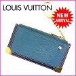 【送料無料】 (良品) ルイヴィトン Louis Vuitton コインケース キーリング スハリ ブルー 【中古】 D956 ★