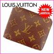 【送料無料】 ルイヴィトン Louis Vuitton 二つ折り札入れ メンズ可 ポルトフォイユミュルティプル モノグラム PVC×レザー 【中古】(参考定価43050円) G361 ★