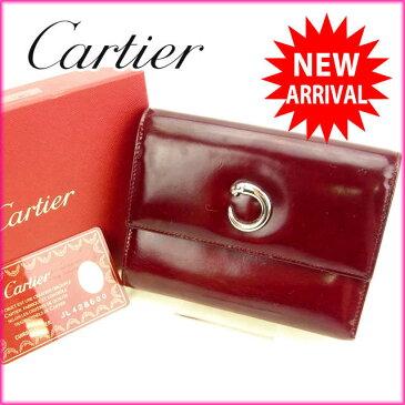 【中古】 カルティエ 三つ折り財布 さいふ パンテール ボルドー Cartier 三つ折りサイフ サイフ 財布 さいふ 折りタタミ 三つ折り財布 さいふ 財布 さいふ ユニセックス 小物 迅速発送 在庫処分 1点物 T15999