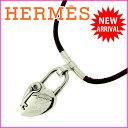 【中古】 【送料無料】 エルメス ネックレス レディース ヴィヴィリデ ブラウン×シルバー Herm?s Y948