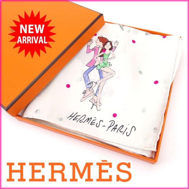 エルメス HERMES スカーフ 超レア パリジャン スパンコール 100%シルク (あす楽対応)美品 人気【中古】 J4689 .:ブランドデポ