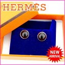 【中古】 【送料無料】 エルメス ピアス レディース エクリプス ブラック×シルバー Herm?s Y1389