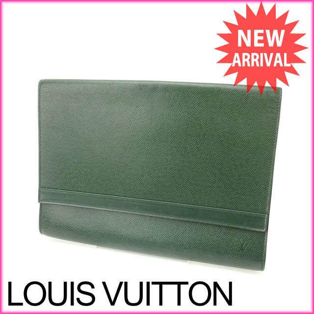 ルイヴィトン Louis Vuitton ドキュメントケース 書類ケース メンズ可 ポシェット・エンヴェロップ タイガ M51801 エピセア PVC×レザー (あす楽対応)美品 人気【中古】 J5716:ブランドデポ