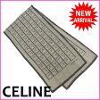 【送料無料】 セリーヌ CELINE スカーフ レディース プリント フラワー×チェーン グレイ系 Silk 100% 【中古】 M894