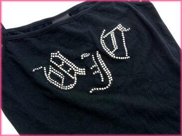 【中古】 【送料無料】 ヴェルサーチ・ジーンズ・クチュール Versace Jeans Couture キャミソール /レディース インナー スタッズ付き ブラック C/90% ET/10% (あす楽対応)(良品・即納) R1003 .