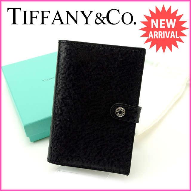 ティファニー Tiffany&Co. パスポートカバー メンズ可 ブラック×ブルー レザー (あす楽対応)新品 未使用【中古】 J7268:ブランドデポ