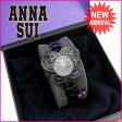 【送料無料】 アナスイ ANNA SUI 腕時計 レディース ブラック×ピンク (あす楽対応) 美品 【中古】 G656 ★