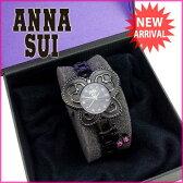【送料無料】 アナスイ ANNA SUI 腕時計 レディース ブラック×ピンク (あす楽対応) 美品 【中古】 G656 .