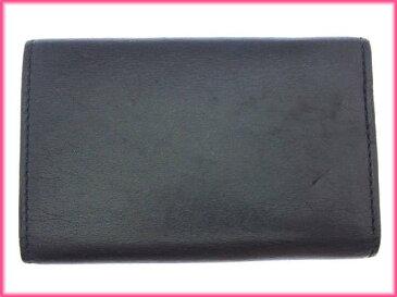 【中古】 【送料無料】 グッチ キーケース 6連キーケース レディース Gマーク ブラック×シルバー Gucci Y3157