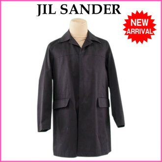 含吉爾雷JIL SANDER大衣中的棉的長長人♯44尺寸單打十彩色黑色棉/100%(衣料)尼龍/99%之外纖維/1%(填充物)PE/100%(對應)品質優良的貨物人氣J7956 ★