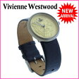 【送料無料】 ヴィヴィアン ウエストウッド Vivienne Westwood 腕時計 ファッションアイテム レディース ラウンドフェイス オーブ ゴールド×シルバー×ブラック ステンレススチール×レザー (あす楽対応)激安 良品【中古】 J6638 ★