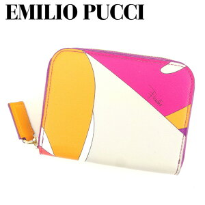 [Used] Emilio Pucci Coin Purse Pouch (Pattern) Pink Purple Gray Gray Leather EMILIO PUCCI Women's Gift Present 1 item Popular Good Good Summer Brand Quick Shipping Fashionable Adult Stock Disposal Fashion [Free Shipping] T8159 A