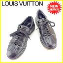 【中古】 【送料無料】 ルイ ヴィトン スニーカー シューズ 靴 ブラック ベージュ T5553s
