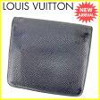 【送料無料】 ルイ ヴィトン Louis Vuitton 二つ折り財布 メンズ ポルトビエ3カルトクレディ タイガ アルドワーズ(ブラック) タイガレザー 人気 セール 【中古】 J16330 ★